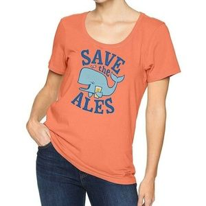 Life is Good Women's Shirt - Save the Ales Medium